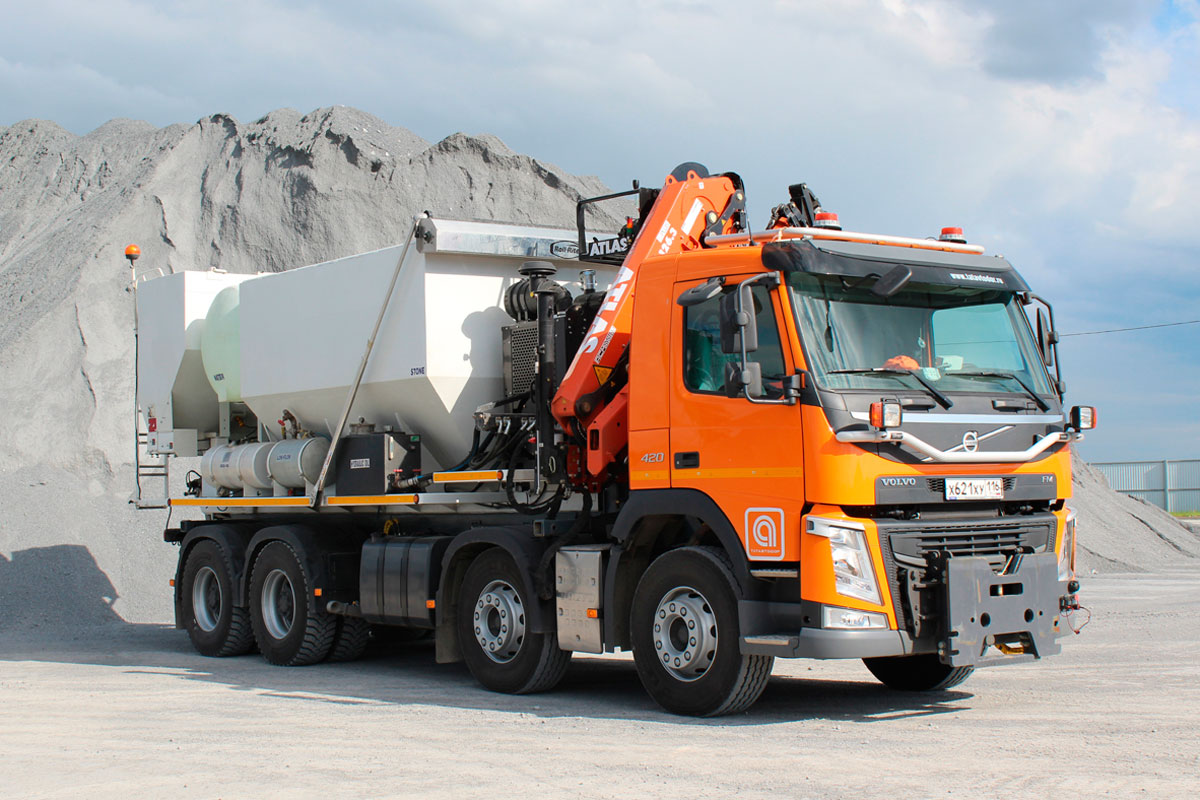 Production of cement concrete mixes with ZM-410-HP Zim-Mixer concrete-mixing plant (made by Zimmerman Industries)